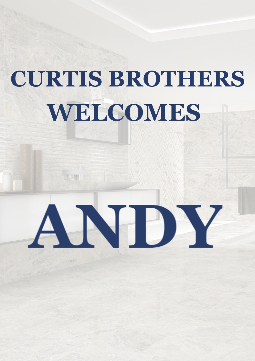 Welcome Andy